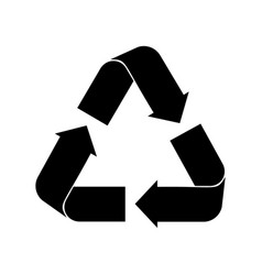 recycle sign on white vector image