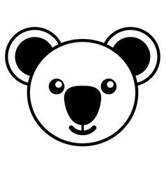 simple line art of a cute koala vector image vector image