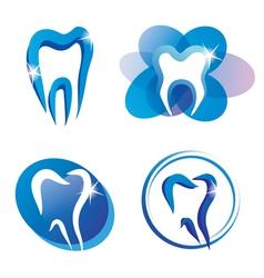 Teeth logo set vector