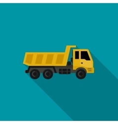 Truck flat icon vector image