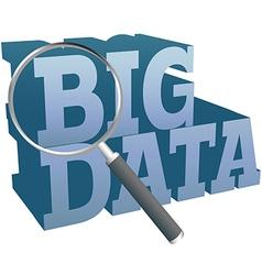 Big Data find information technology vector image vector image