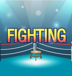 Boxer Stage Background Fight Text vector image