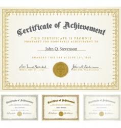 Certificate set vector
