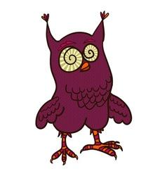crazy owl doodle vector image