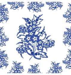 Seamless gzhel background vector