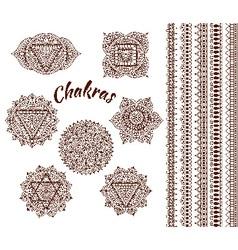 Set of seven chakras vector image