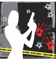 crime vector image vector image