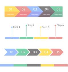 progress chart statistic concept infographic vector image