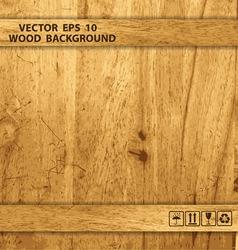 wooden box texture vector image vector image