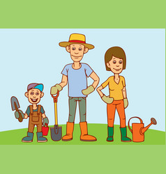 a young family father mother and child are vector image vector image