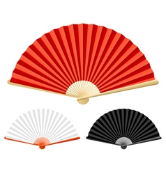 folding fan vector image vector image