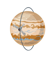 jupiter and spacecraft art vector image vector image