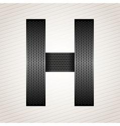 Letter metal ribbon - H vector image vector image