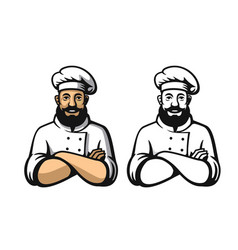 smiling and happy chef vector image