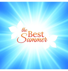 Summer Background with Bright Sun in the Sky vector image