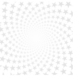 twisted stars spiral abstract background vector image vector image