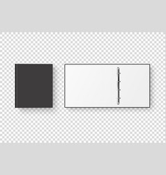 3d closed and opened realistic black blank vector image