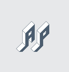 A and p - monogram or logotype ap - 2-letter code vector