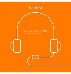 a linear headphone vector image