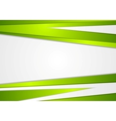 Abstract corporate green stripes background vector image