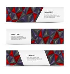 Abstract pyramid horizontal banners vector