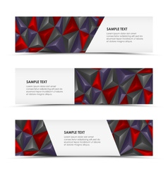 Abstract pyramid horizontal banners vector image