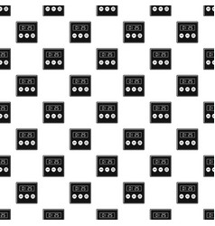 Alarm clock pattern seamless vector