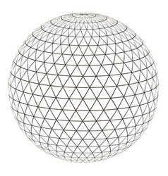 ball sphere grid triangle on surface vector image