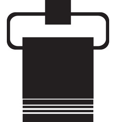 bathroom towel icon towel on a hanger icon isolate vector image