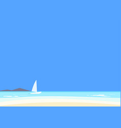 Beautiful seascape azure sea and white sand vector
