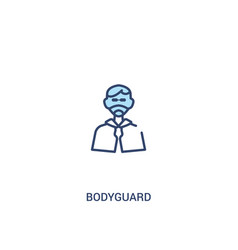 Bodyguard concept 2 colored icon simple line vector