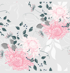 bouquet with japanese chrysanthemum vector image