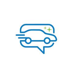 car wash salon online bubble chat icon app logo vector image