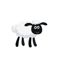 cartoon sheep isolated on white background vector image
