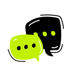 chat icon in trendy flat style speech bubble vector image