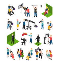 cinematography isometric people vector image