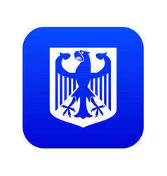 coat arms germany icon digital blue vector image