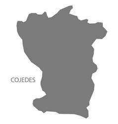 Cojedes venezuela map grey vector