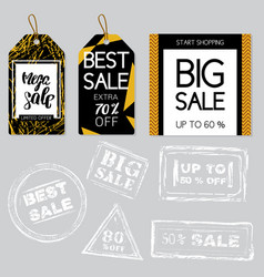 collection of sale background vector image