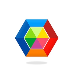 Colorful polygon abstract logo vector