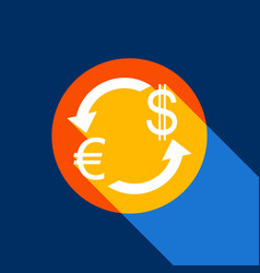 Currency exchange sign euro and us dollar vector