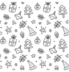 cute christmas graphic seamless pattern vector image
