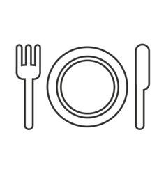 Cutlery menu restaurant icon vector