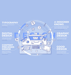 Designer - promotional with text vector
