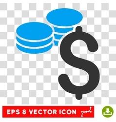 Dollar Coins Eps Icon vector