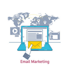 E-mail marketing mailing news letter advertising vector