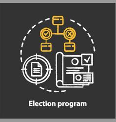 Elections chalk concept icon election program vector