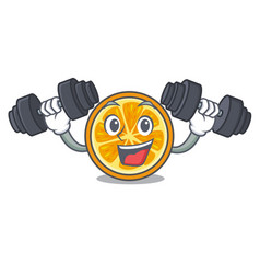 fitness orange character cartoon style vector image