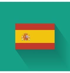 Flat flag of Spain vector image