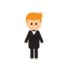 Flat web icon on white background groom vector